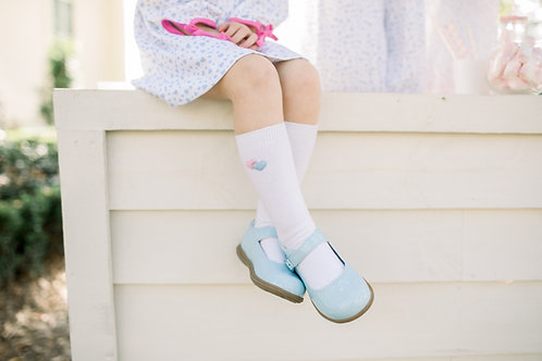 Lullaby Set Blue and Pink Heart Socks
