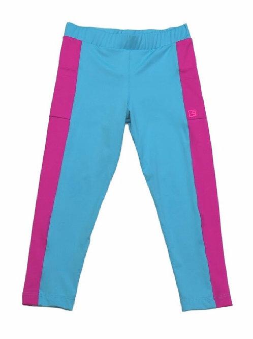 Set Athleisure  Teal/Hot Pink  Lila Athletic Leggings xxs, xs, sm