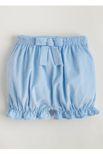 Little English Light Blue Cord Bow Bloomers