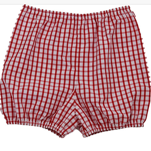 Lullaby Set Anchors Away Red Windowpane Bloomer