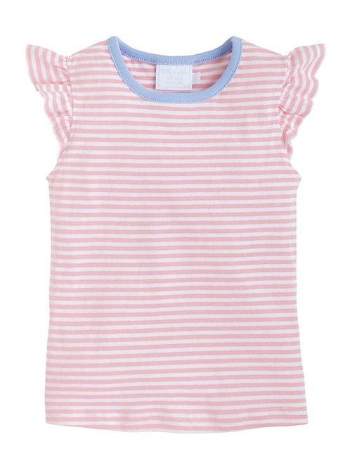 Little English Pink Stripe Angel Tee