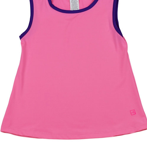 Set Athleisure Hot Pink with Purple Tori Tank
