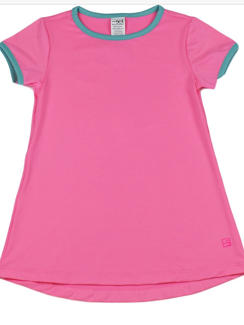 Set Athleisure Pink and Turquoise Lindsay Long Tee
