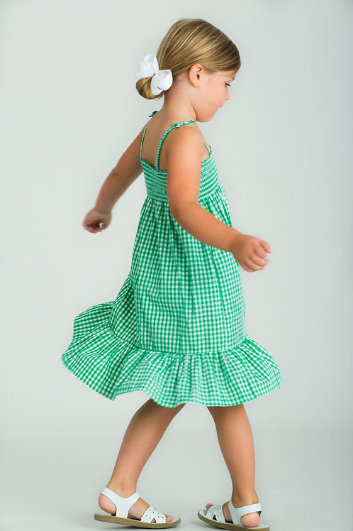 Little English Augusta Green Lucy Dress