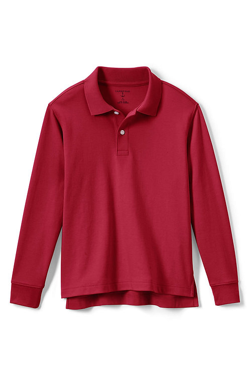 Polo-Red Long-Sleeve, size 4
