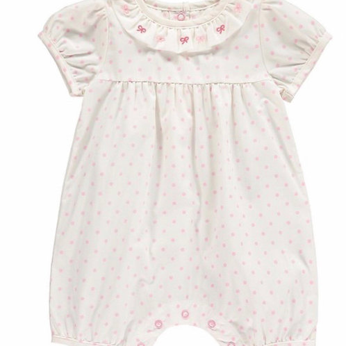 Rachel Riley Bow Embroidered Babysuit