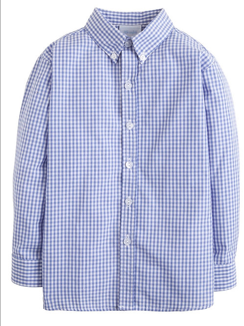 Little English royal gignham button down, size 5