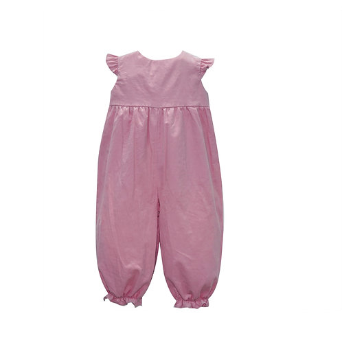 Lullaby Set Angel-Sleeve Pink Cord Longall
