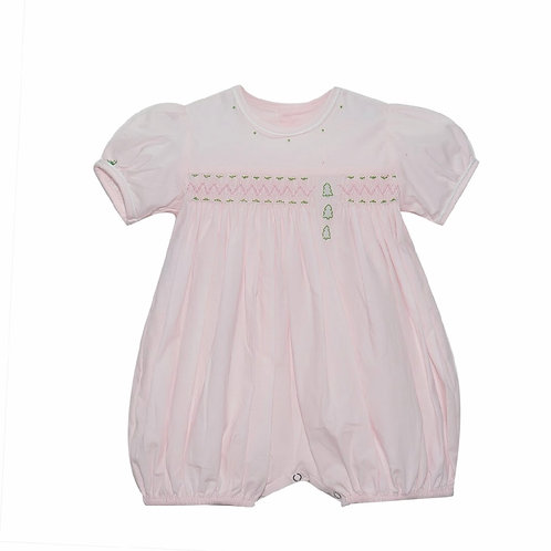 Lullaby Set Pink Christmas Tree Bubble 12 mo, 3t