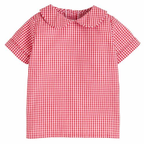 Little English Peter Pan Red Gingham Shirt