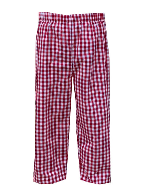 Lullaby Set Red Gingham William Pants