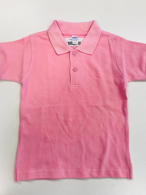 Pink  Polo-Monag Pique Weave