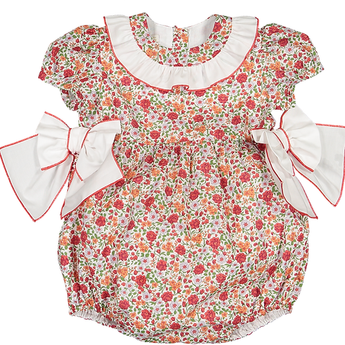 Sal & Pimenta Red Floral Bows Bubble