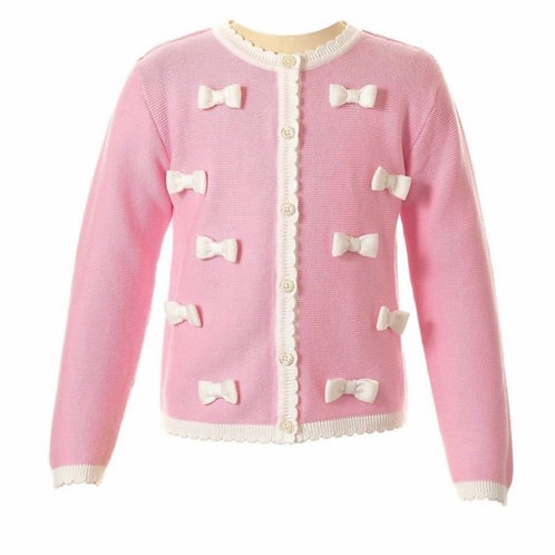 Rachel Riley Pink Bow Sweater 5, 6, 7