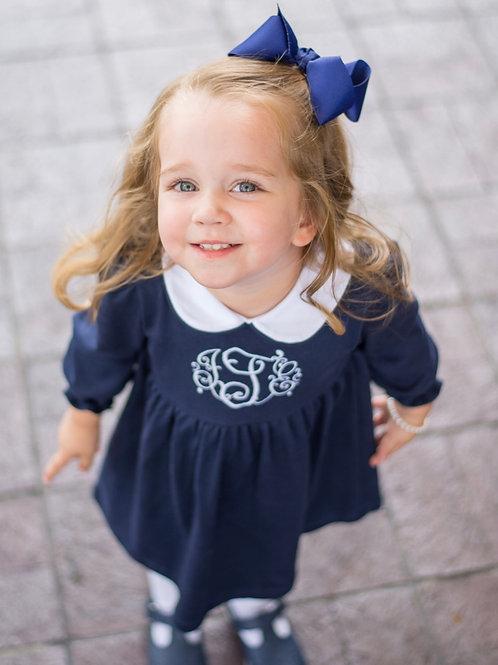 Navy Pima Twirly Dress size 6, 8