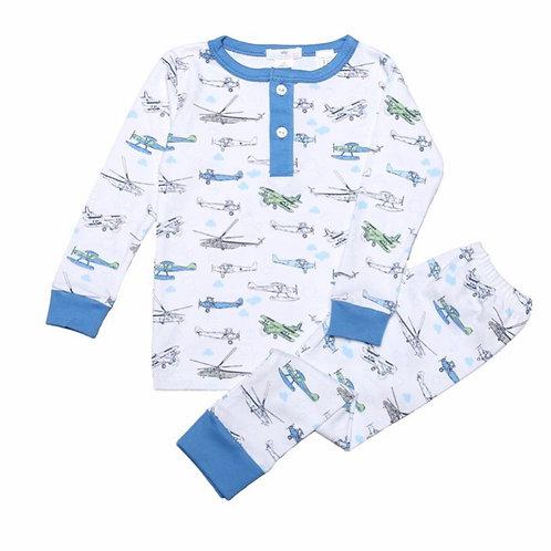 Baby Bliss Airplane Pima Pajamas