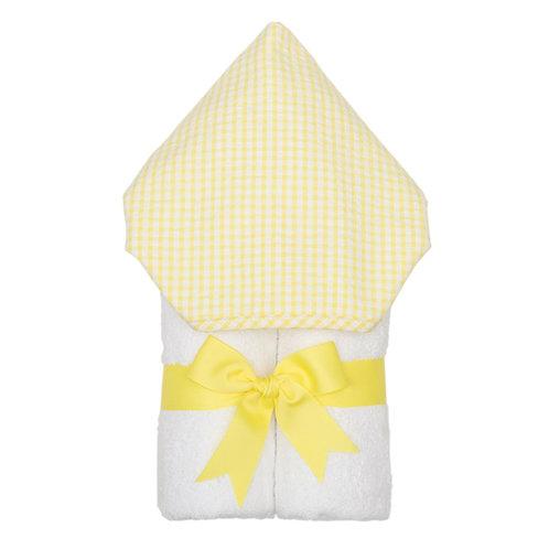 Hooded Towel-Yellow Gingham