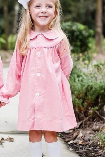 Lullaby Set Pink Cord Coat/Dress