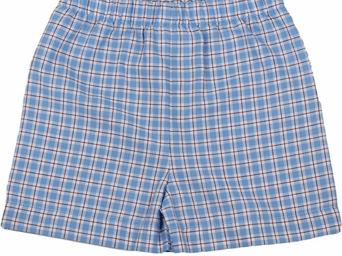 Lullaby Set Anchors Away Red and Blue Plaid Shorts