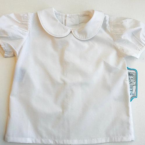 Remember Nguyen Girls White Peter Pan Shirt