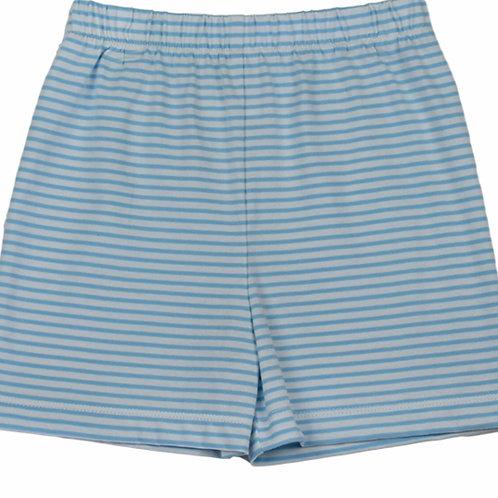 Lullaby Blue Stripe Shorts 12, 18 mo
