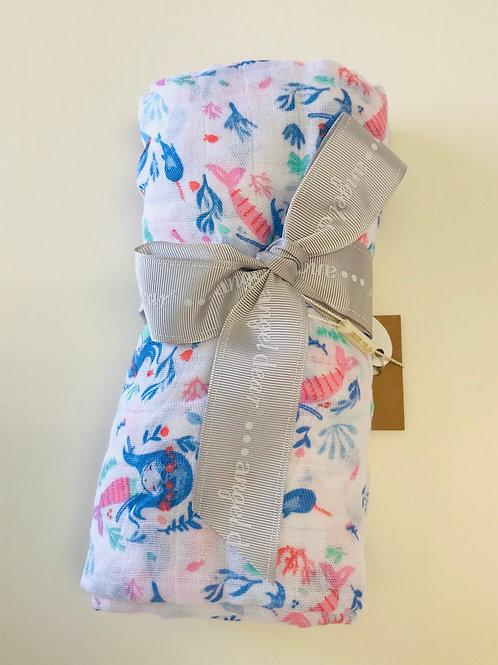 Angel Dear Mermaid Muslin Swaddle Blanket