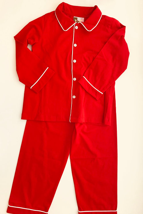 Banana Splits Red Pima Pajamas 18 mo