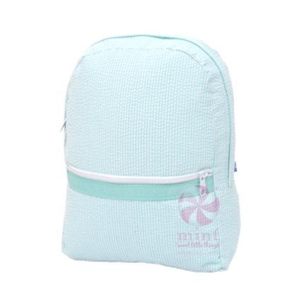Mint Seersucker Medium Backpack by Mint