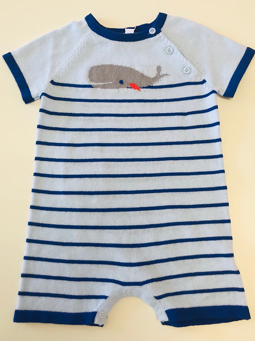 Angel Dear Whale Knit Shortall