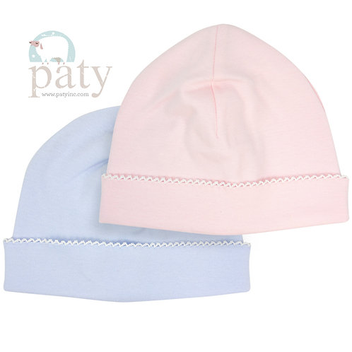 Paty Pima Hat with Picot Trim