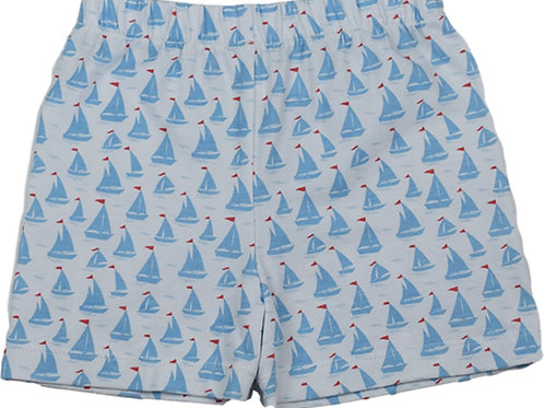 Lullaby Set Anchors Away Sailboat Shorts