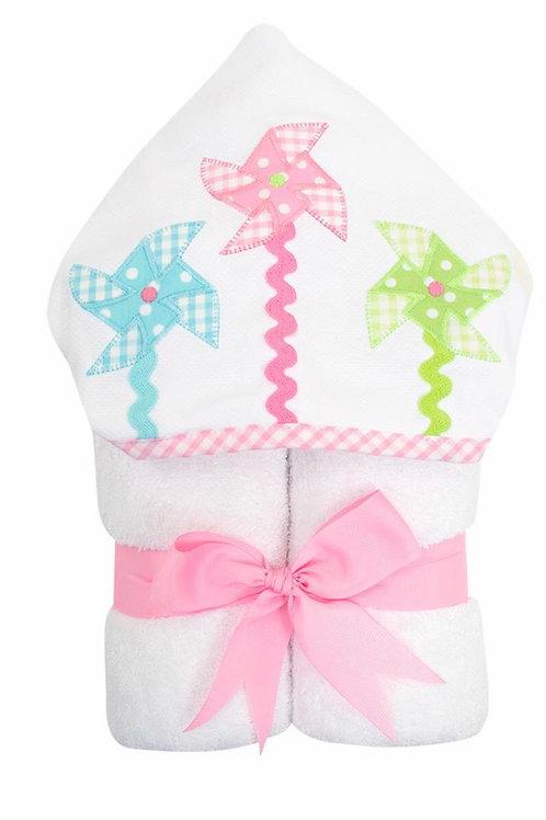 3 Martha's Pinwheel Hooded Towel