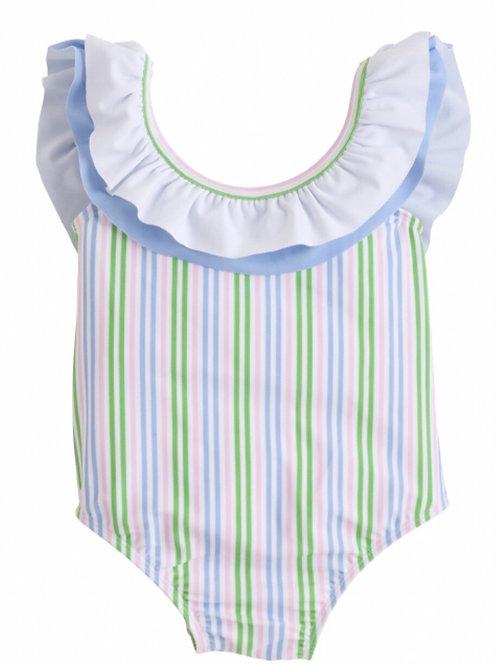 Little English Summer Stripe Breezy Swimsuit