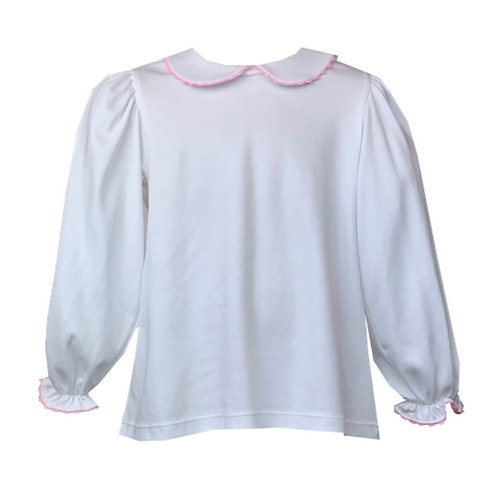 Lullaby Set Pink Ric Rac Pima Long-Sleeve Shirt