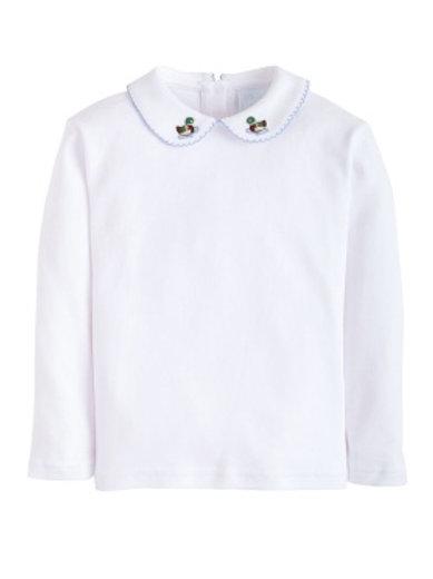 Little English Mallard Pinpoint Pima Shirt 24 mo, 3t