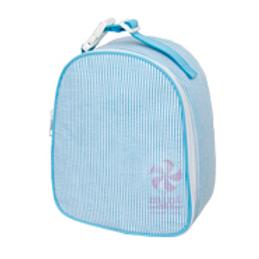 Aqua Seersucker Gumdrop Lunchbox