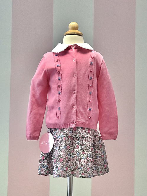 Rachel Riley Flower Embroidered Cardigan 18 mo, 2t, 3t