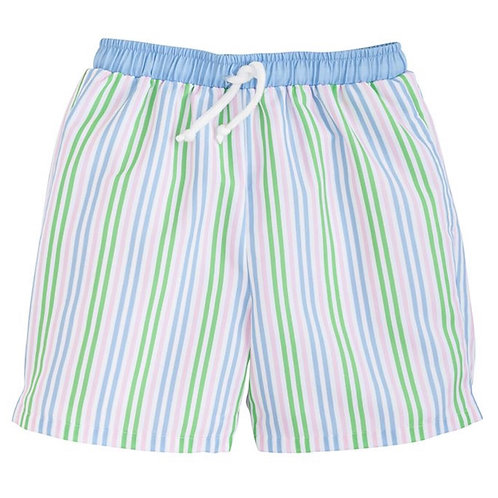 Little English Summer Stripe Board Shorts