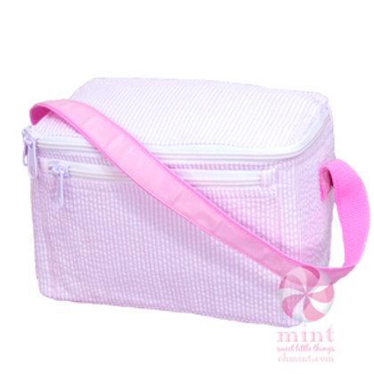 Light Pink Seersucker Lunchbox