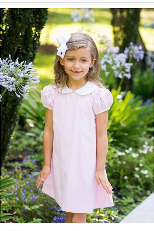 Lullaby Set Pink Dress with Floral Collar
