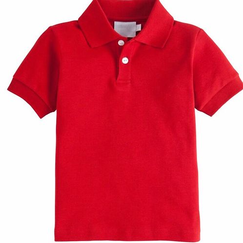 Little English Red Eaton Polo Short Sleeve