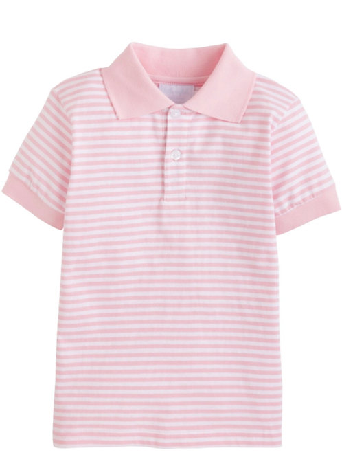 Little English Pink Striped Polo