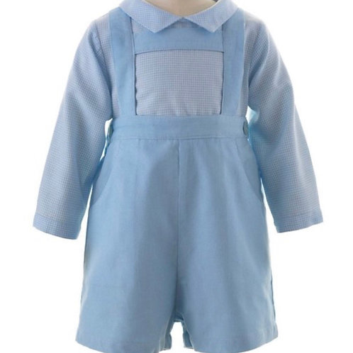 Rachel Riley Blue Babycord Short Set