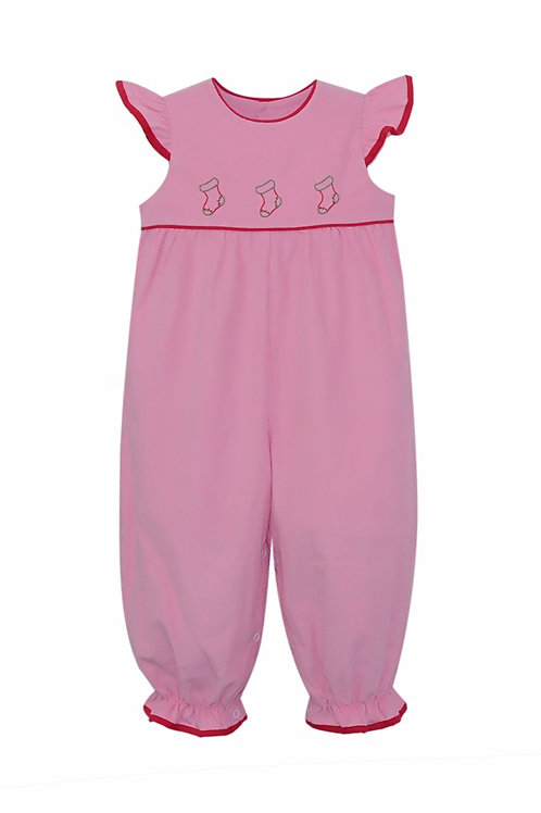 Lullaby Set Pink Cord Christmas Stocking Romper