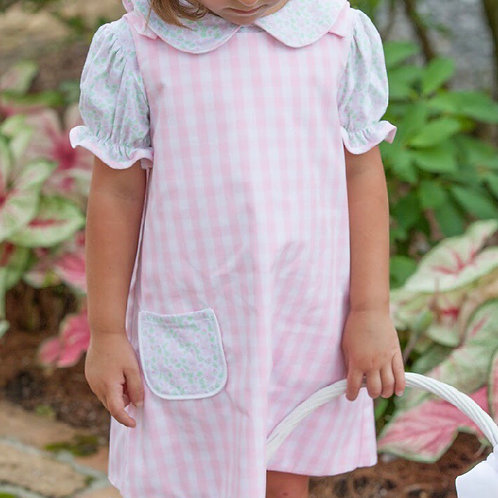 Lullaby Set Pink Plaid/Bunny Fabric Reversible Jumper