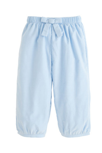 Little English Light Blue Bow Cord Banded Pants