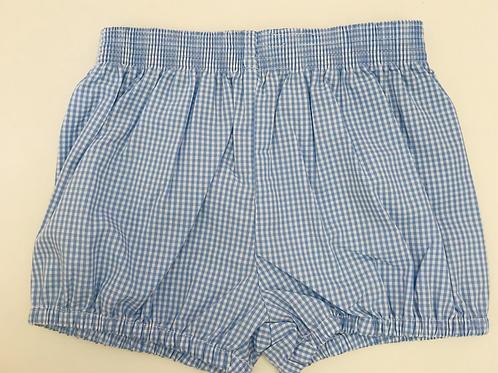 Lullaby Set Light Blue Gingham Banded Shorts