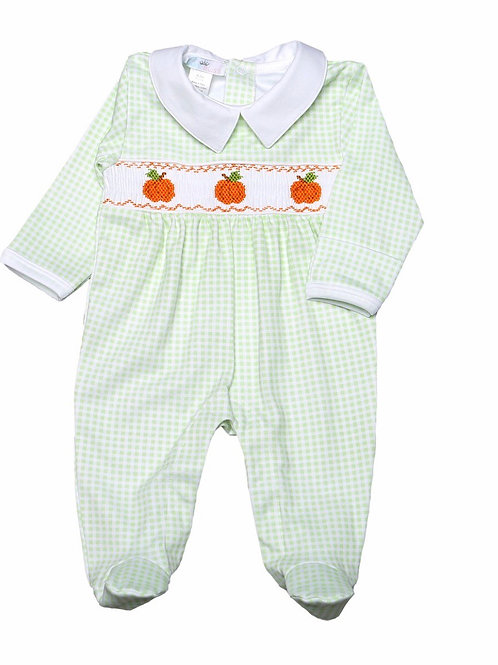 Baby Bliss Pima Pumpkin Footie Romper