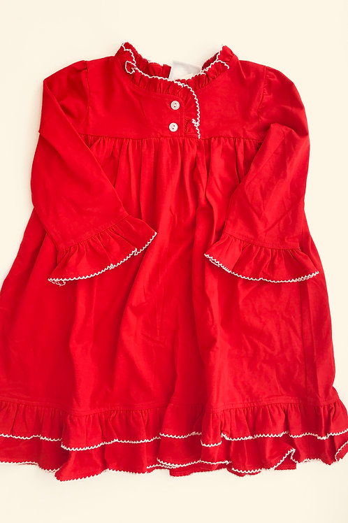 Red Pima Christmas Morning Gown