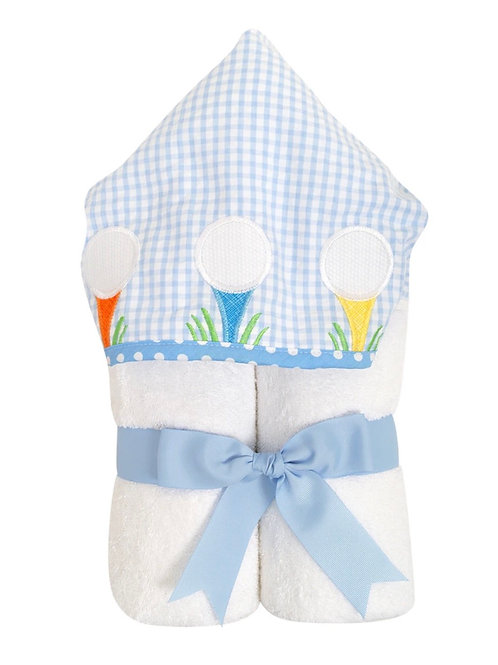 3 Marthas Golf Applique Hooded Towel